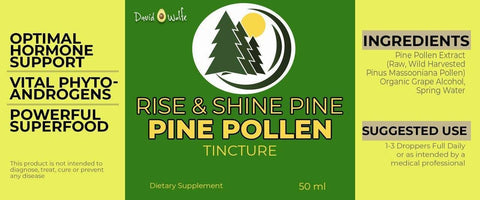 Image of Rise & Shine Pine Pollen Tincture (50mL) – Male Enhancement
