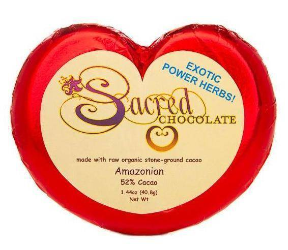 Amazonian Sacred Chocolate Heart Bars (12 Pack)