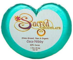 Coco Nibby Heart Chocolate Bars (12 Pack) - (Shipping Included USA)