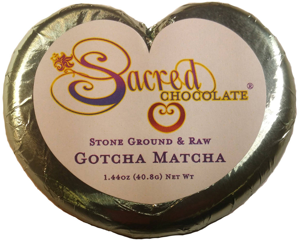 Gotcha Matcha Sacred Chocolate Heart Bars (12 Pack)