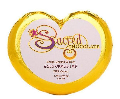 Ormus Gold Sacred Chocolate Heart Bars (12 Pack)