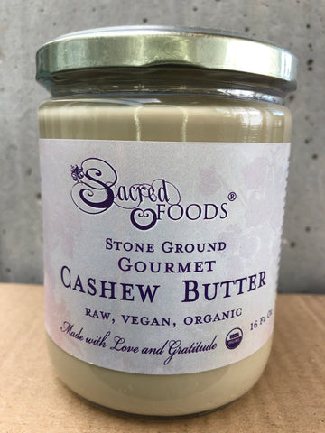 Stone Ground Organic Raw Cashew Butter 16 Fl Oz - Sacred Foods
