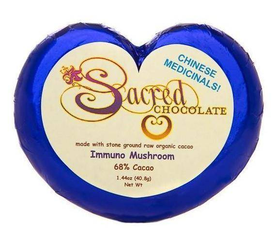 Immuno Mushroom Sacred Chocolate Heart Bars (12 Pack)