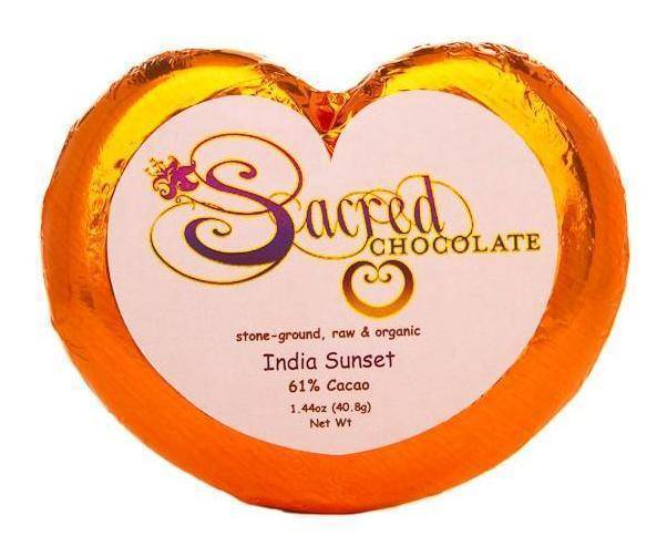 India Sunset Sacred Chocolate Heart Bars (12 Pack)