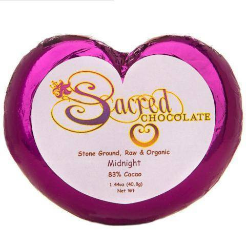 83% Midnight Sacred Chocolate Heart Bars (12 Pack)
