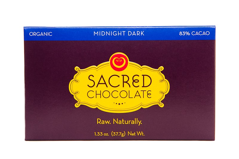 Midnight Dark (83% Cacao) - 1.33oz (Rectangular) - Sacred Chocolate