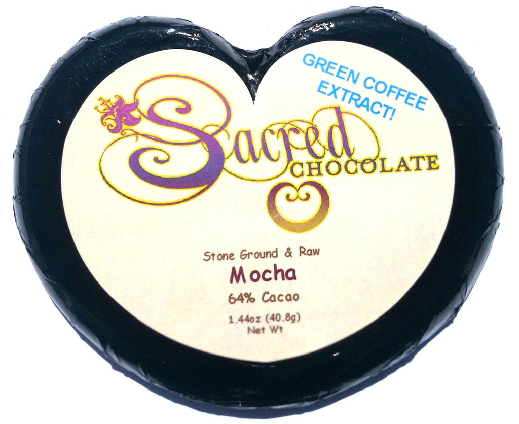 Mocha Sacred Chocolate Heart Bars (12 Pack)