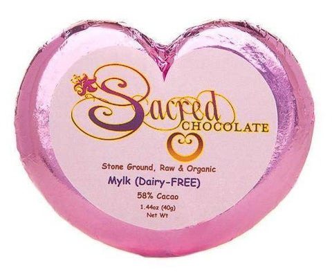 Mylk Sacred Chocolate Heart Bars (12 Pack)