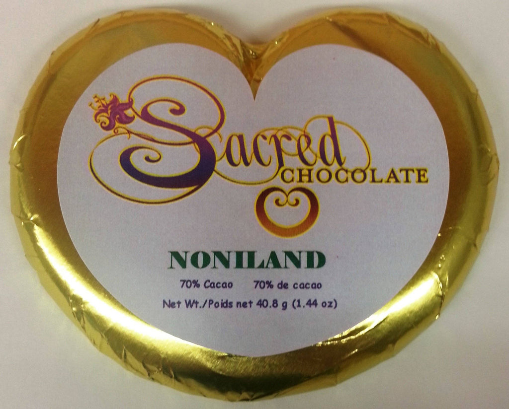 NoniLand Heart Chocolate Bars (12 Pack) - (Shipping Included USA)