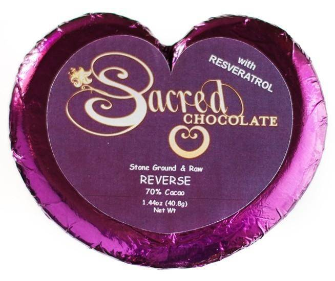 Reverse (Resveratrol) Sacred Chocolate Heart Bars (12 Pack)