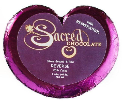 Image of Reverse (Resveratrol) Sacred Chocolate Heart Bars (12 Pack)