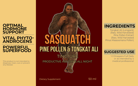 Image of Sasquatch Pine Pollen & Tongkat Ali Tincture (50mL)