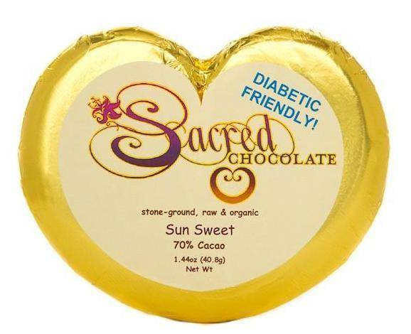 Sun Sweet Sacred Chocolate Heart Bars (12 Pack)