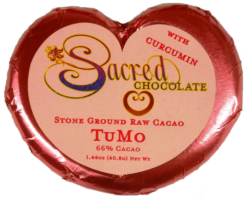 TuMo Sacred Chocolate Heart Bars (12 Pack)