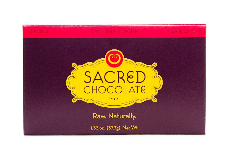 Twilight Dark (69% Cacao) - 1.33oz (Rectangular) - Sacred Chocolate