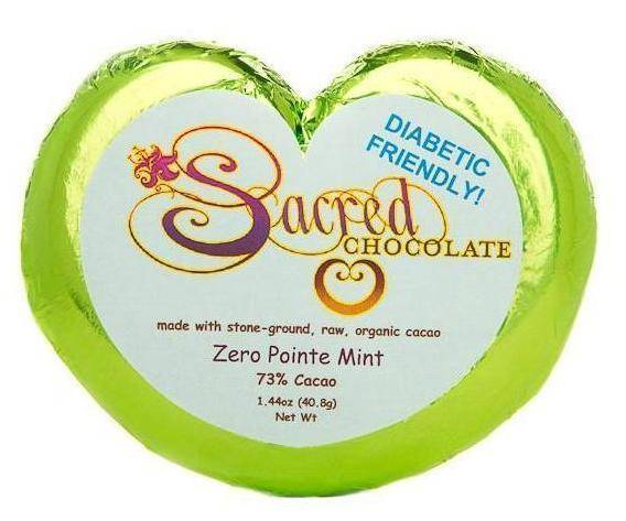 Zero Pointe Mint Heart Chocolate Bars (12 Pack) - (Shipping Included USA)