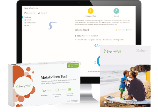 Learn the impact your DNA may have on your weight, and check your current hormone levels with the EverlyWell companion kit.