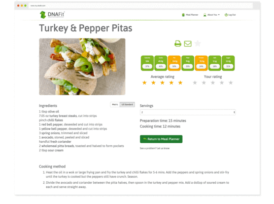 Explore thousands of recipes specially curated for your nutrition goals and genotype.