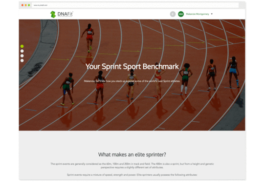 See how you stack up across five categories: sprint, endurance, team sports, strength, and speed/strength.