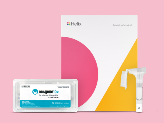 Get a Helix DNA kit so you can show off what makes you unique. Kit is only required if you haven't already been sequenced by Helix.
