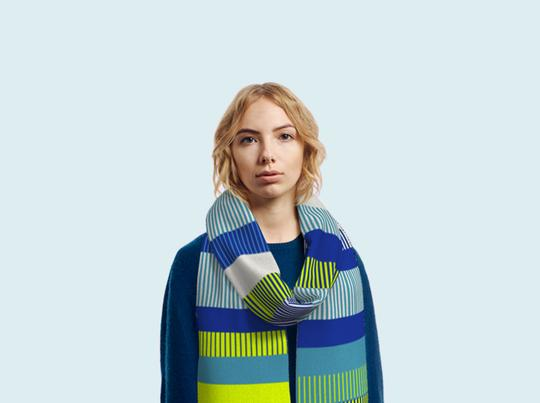 A mix of Italian wool and high quality acrylic makes the scarf soft, light and easy to care for. Dot One believes in creating products that are kept and loved longer.