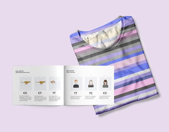 The illustrated booklet is a simple and fun way to learn about DNA sequencing. It also gives you insights into the information visualized in your personalized t-shirt.