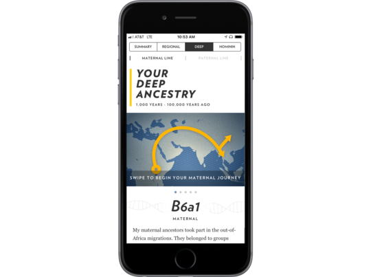 Reveal the anthropological story of your ancestors—where they lived and how they migrated.