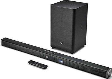 JBL 2.1 Sound Bar with Wireless Subwoofer-Black