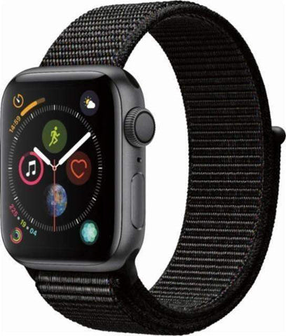 Apple Watch Series 4 (GPS), 44mm Space Gray Aluminum Case with Black Sport Loop-MU6E2
