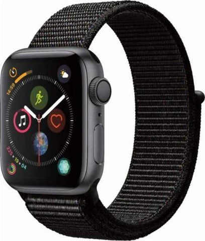 Apple Watch Series 4 (GPS + Cellular), 44mm Gray Aluminum Case with Black Sport Loop-MTVV2