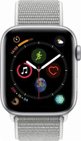 sports shoes ee07d 0a140 Apple Watch Nike+ Series 4 (GPS), 44mm Silver Aluminum Case with Summit  White