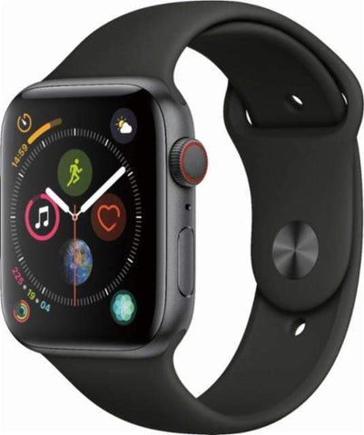 Apple Watch Series 4 (GPS), 40mm Space Gray Aluminum Case with Black Sport Band-MU662