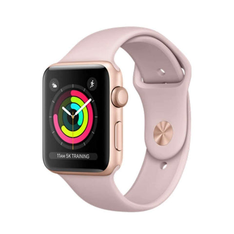 Apple watch Series 3 42 mm- Gold Pink with Pink Sport Band, GPS, watch OS 4 MQL22