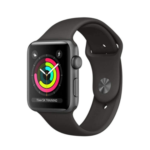 Apple watch Series 3 38mm - Black Sport Band, GPS, watch OS 4 MQKV2