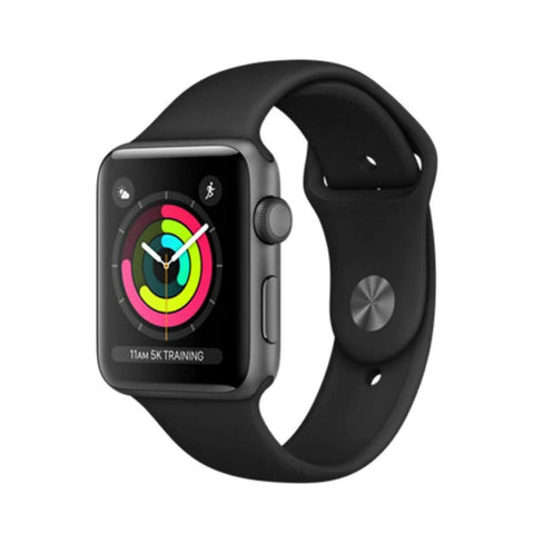 Apple watch Series 3 42mm - Space Gray with Black Sport Band,  MQL12