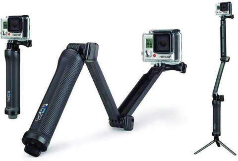 GoPro 3-Way Grip, Arm, Tripod Monopod, Selfie Stick