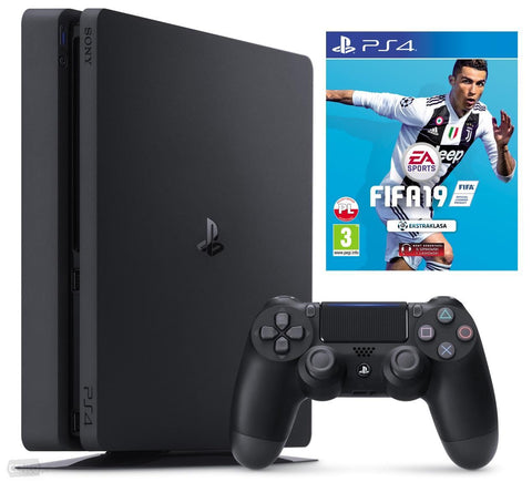 Sony PlayStation 4 Slim - 500GB Bundle,FiFA19 , Controller