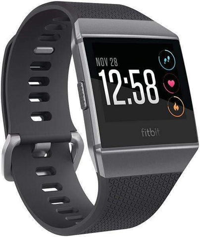 Fitbit Ionic Smartwatch, Charcoal/Smoke Gray, One Size - S & L Bands Included