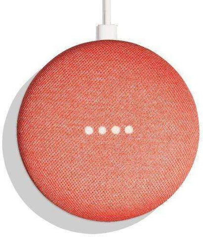 Google Home Mini Wireless Voice Activated Speaker , Coral(Red)