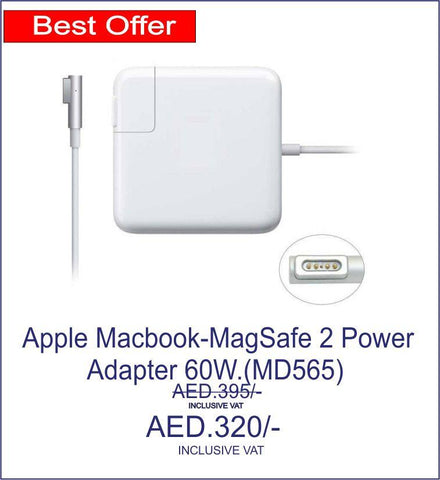 60W MagSafe 2 Power Adapter for MacBook Pro -(MD565)