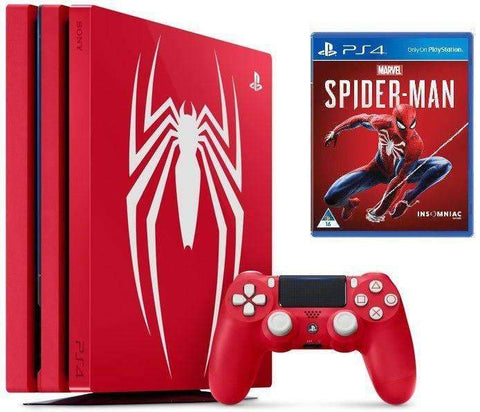 Sony PlayStation 4 Pro -1TB Spider-Man, Red