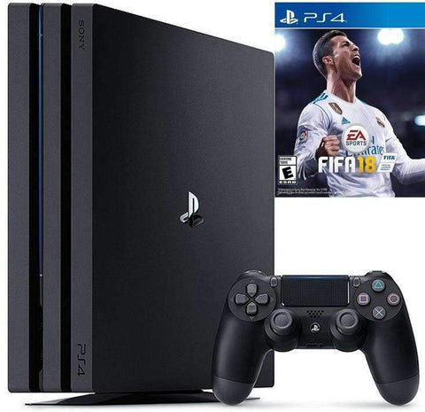 Sony PlayStation 4 Pro - 1TB, with Fifa 18 ,Controller- Black