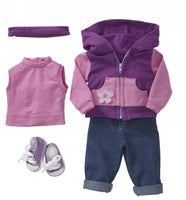 18 inch american doll Sporty Purple Warmup
