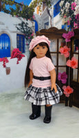 "18 inch dolls and accessories, Shining Star 18"" Doll in Pretty in Pink Outfit with Boots"