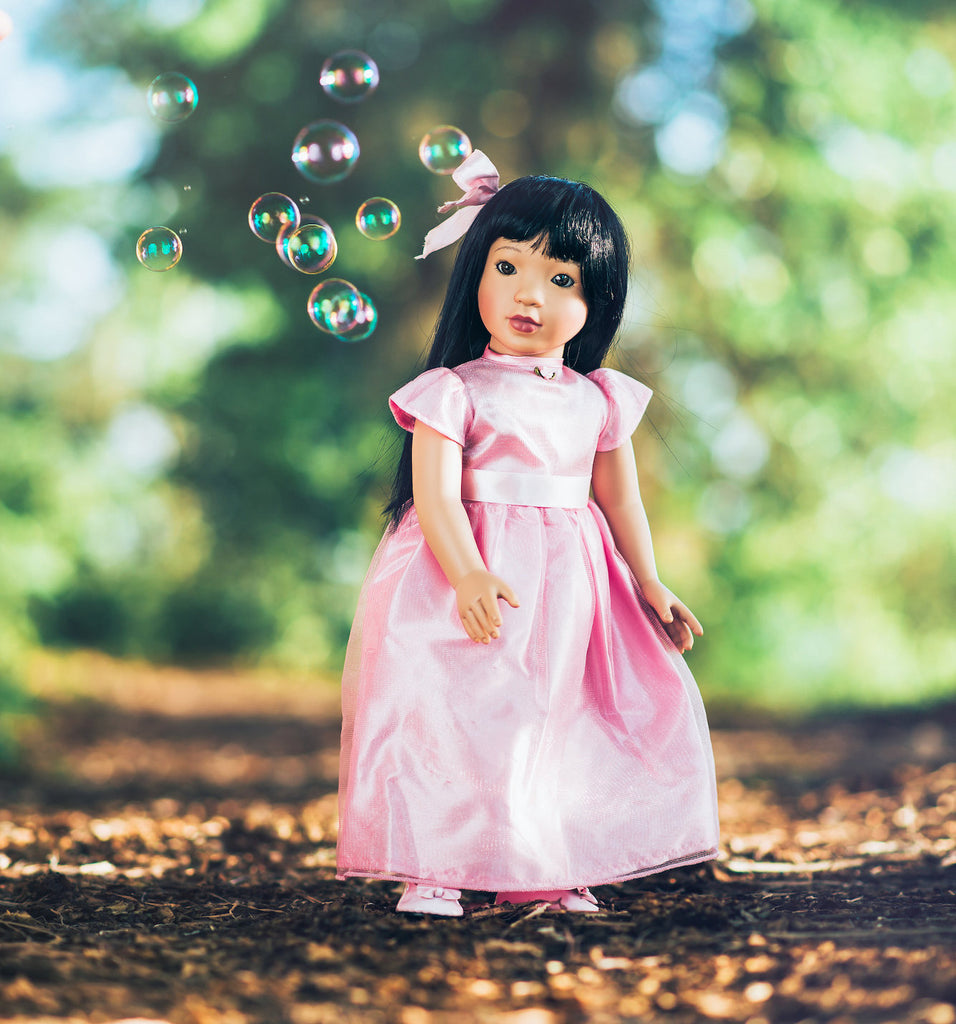 Pink doll dealers and collectors, pink doll collectors near me, Wishing Star in the Fairy Tale Pink Ball Gown