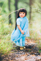 "american girl doll clothes in blue color, Wishing Star 18"" Doll in Sky-Blue Indian Sari"