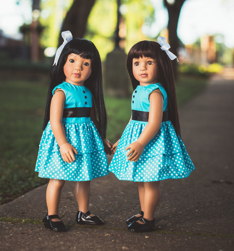 "our generation new doll with book, our generation doll with book accessories, Wishing Star 18"" Doll in Sassy Blue Dress"