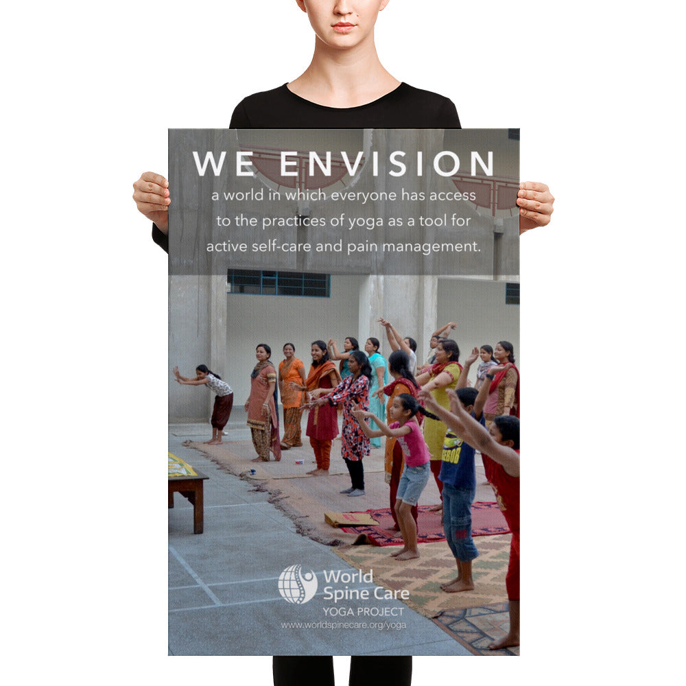 Yoga Vision Statement on Canvas