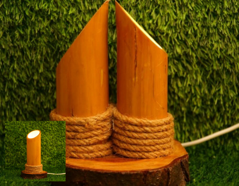 Bamboo Table Lamp : New living room decor idea helpful for reading things