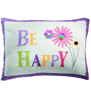 Be Happy cushion cover, Cushion Covers,- Boho Homes